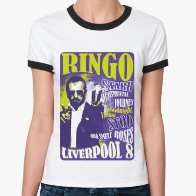Женская футболка Ringer-T Ringo 60s