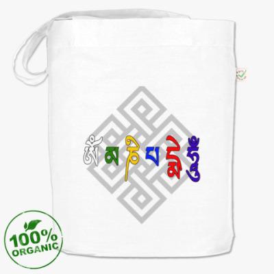 Сумка тибетский Ом мани падме хум с лотосом и узлом