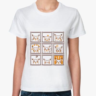 Классическая футболка Pikachu Emotions