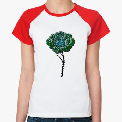 Женская футболка реглан Роза