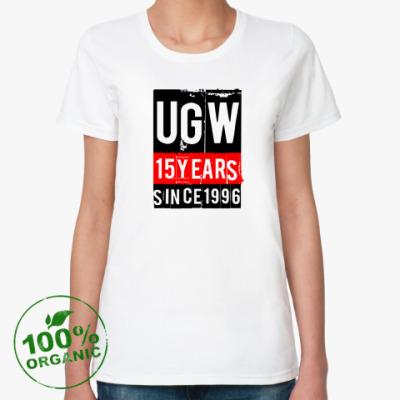Женская футболка из органик-хлопка 15 лет UGW  органик