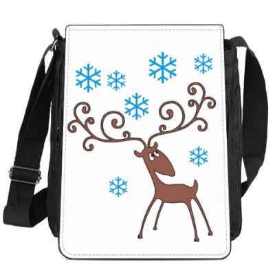 Сумка-планшет Сумка на плечо с оленем