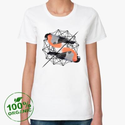 Женская футболка из органик-хлопка Синички