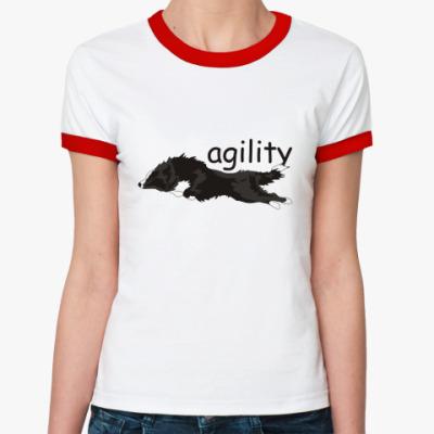 Женская футболка Ringer-T agility