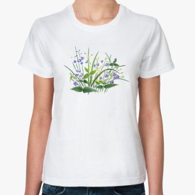 Классическая футболка незабудки