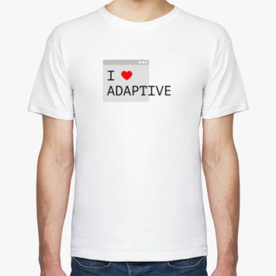 Футболка I <3 adaptive