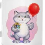 Кот и воздушный шарик