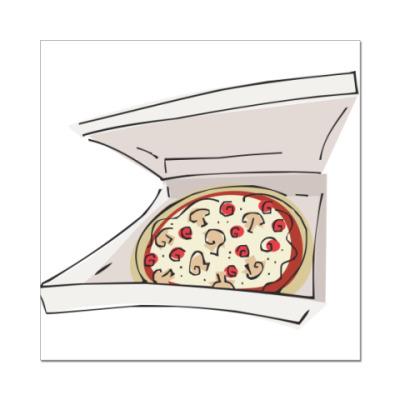 Наклейка (стикер) Доставка пиццы