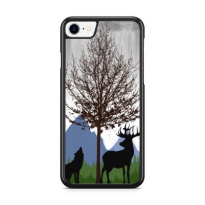 Чехол для iPhone Природа в силуэтах