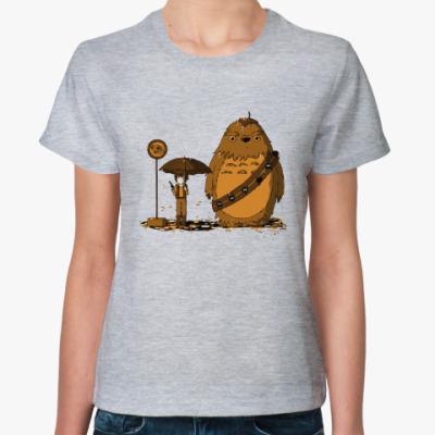 Женская футболка Порги звездные войны
