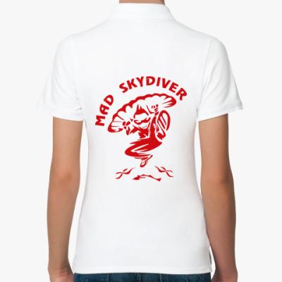 Женская рубашка поло MAD SKYDIVER