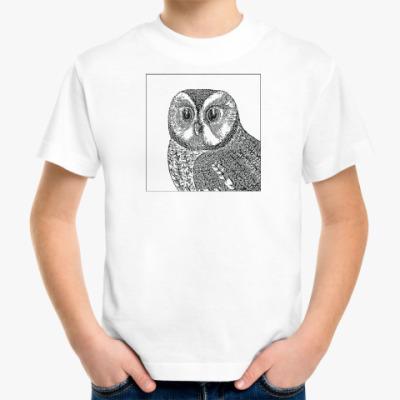 Детская футболка Сова - символ мудрости