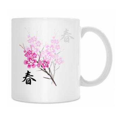 Кружка Весна в Японии