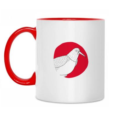 Кружка Принт с птицей-палачем