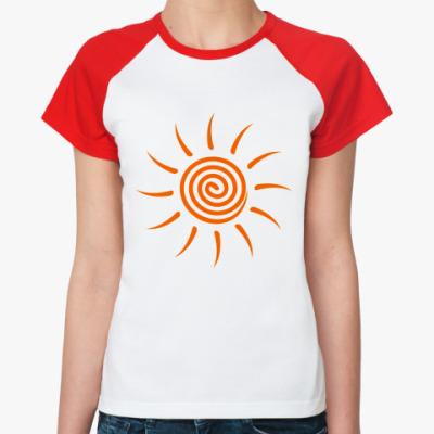 Женская футболка реглан Солнышко
