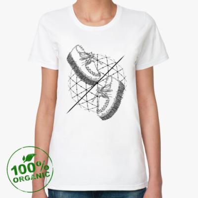 Женская футболка из органик-хлопка Слова и фразы - твои шаги!