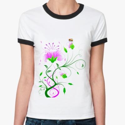 Женская футболка Ringer-T  'Нежность'
