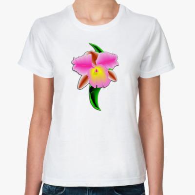 Классическая футболка Орхидея