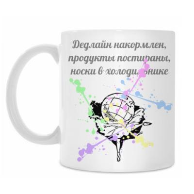"Кружка Кружка, белая ""ДОБРАЯ"""
