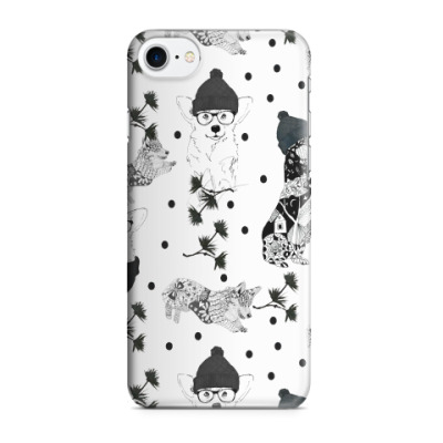Чехол для iPhone 7/8 Корги в черном