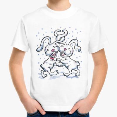 Детская футболка Влюбленные кролики