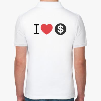 Рубашка поло Я ЛЮБЛЮ ДЕНЬГИ