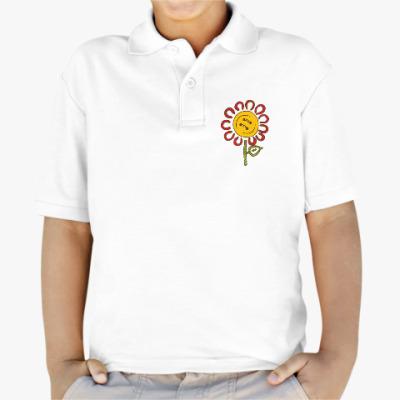 Детская рубашка поло Цветок