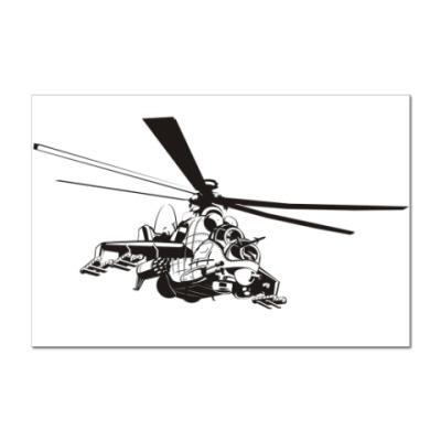 Наклейка (стикер)   Вертолет