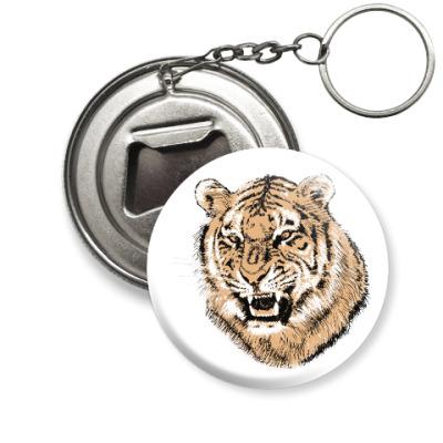 Брелок-открывашка Тигр