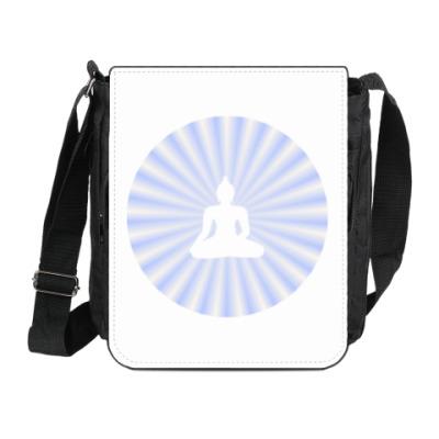 Сумка на плечо (мини-планшет) Лучезарный Будда