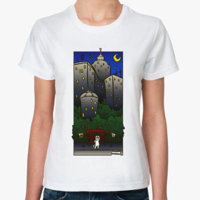 Классическая футболка Ночной город