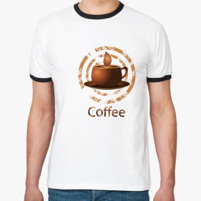 Футболка Ringer-T coffee