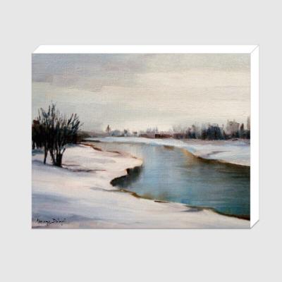 Холст Река в окрестностях Тучково