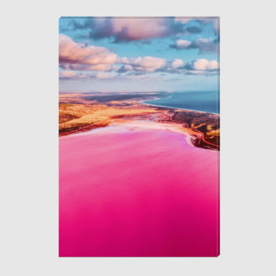 Холст Incredible pink lake Hutt Lagoon 2