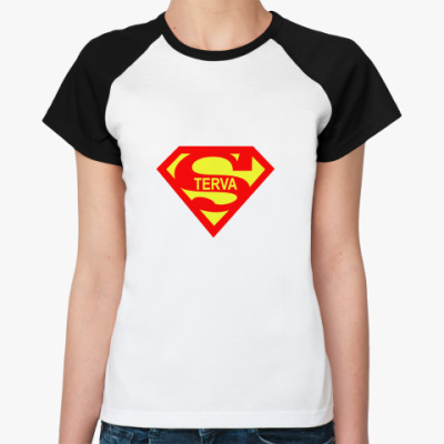 Женская футболка реглан Стерва