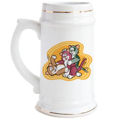 Пивная кружка Кошкины игры