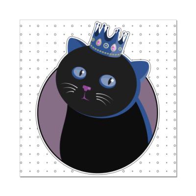 Наклейка (стикер) Его величество Кот