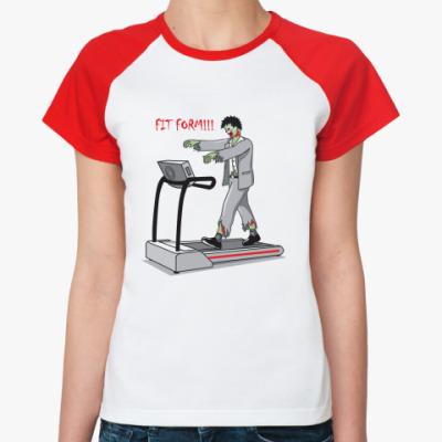 Женская футболка реглан Fit Form