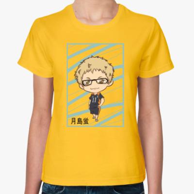 Женская футболка Цукишима чибик