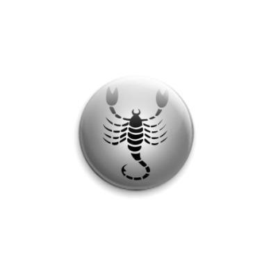 Значок 25мм Скорпион