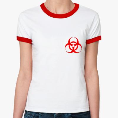 Женская футболка Ringer-T Biohazard