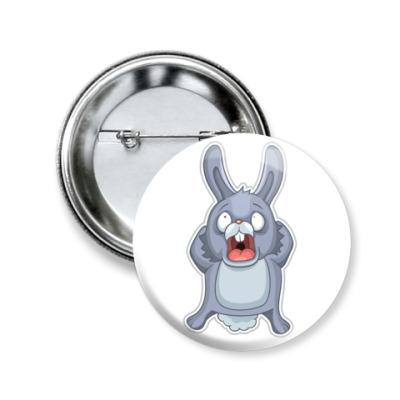 Значок 50мм   Кролик