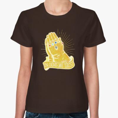 Женская футболка Перчатка Бесконечности