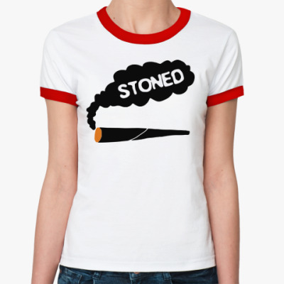 Женская футболка Ringer-T stoned