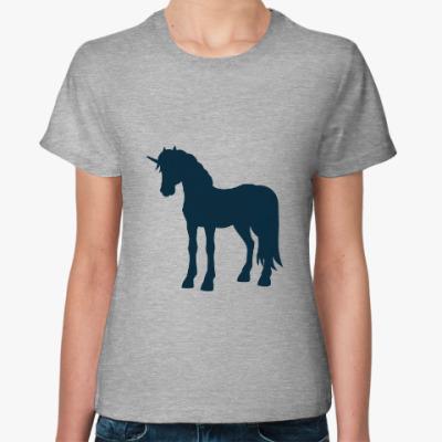 Женская футболка Единорог