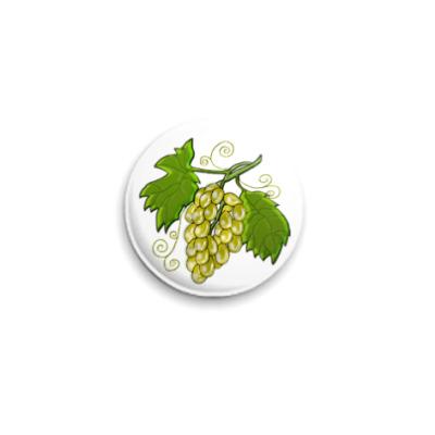 Значок 25мм Виноград