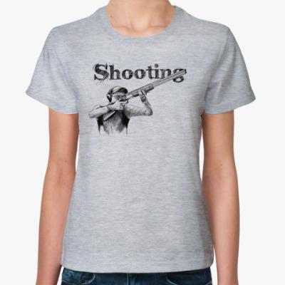 Женская футболка Стрельба