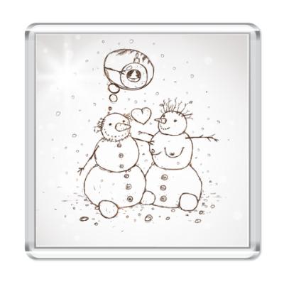 Магнит  Снеговик