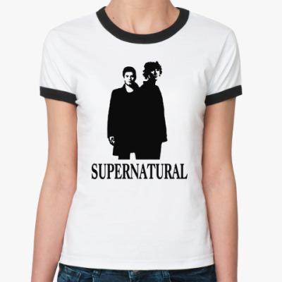 Женская футболка Ringer-T Supernatural Sam&Dean