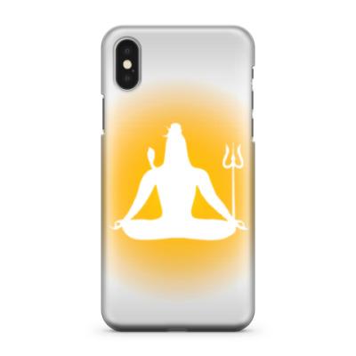 Чехол для iPhone X Сияние Шивы